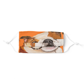 Large Cute Bulldog wants his Treats Adult Cloth Face Mask