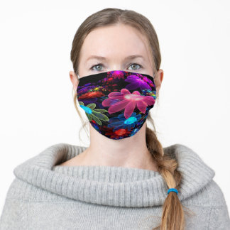 Laser Flowers Adult Cloth Face Mask