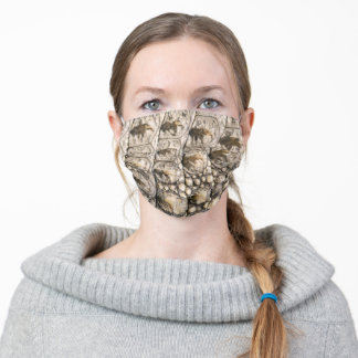 Later, aligator skin pattern adult cloth face mask