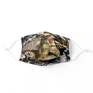 Laughing Box Turtle Photographic Art Adult Cloth Face Mask