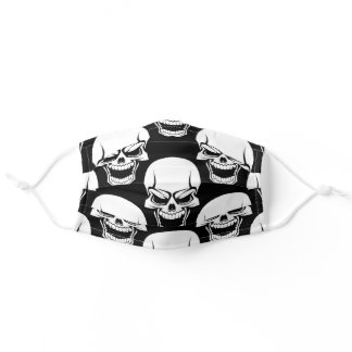 Laughing Skulls Adult Cloth Face Mask