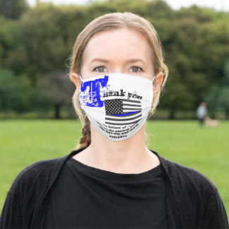 LAW ENFORCEMENT THANK YOU ADULT CLOTH FACE MASK