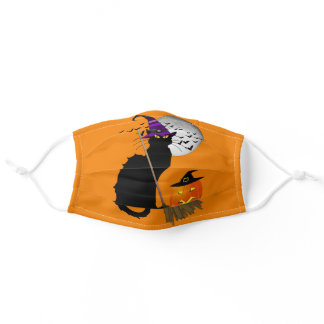 Le Chat Noir - Halloween Witch Cat Adult Cloth Face Mask
