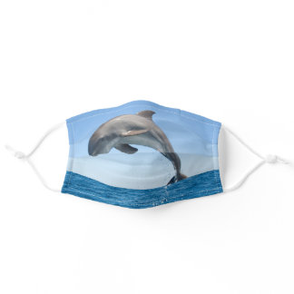 Leaping Dolphin Adult Cloth Face Mask