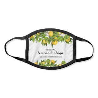 Lemons on Trellis Personalized Face Mask