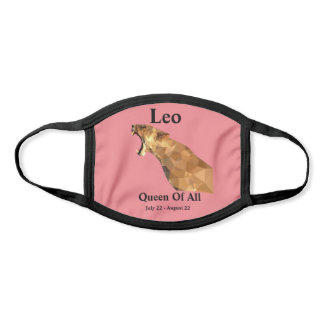 Leo, Queen Of All (Salmon) Face Mask