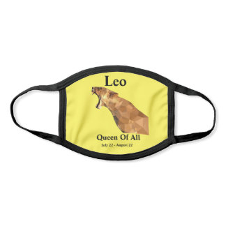 Leo, Queen Of All (Yellow) Face Mask