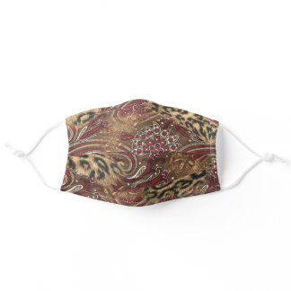 Leopard and Paisley Print Adult Cloth Face Mask