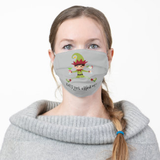 Let's Get Elfed Up Funny Elf Christmas Cocktail Adult Cloth Face Mask