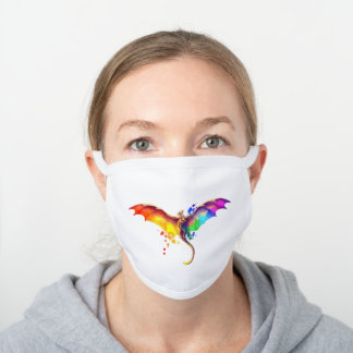 LGBT Dragon White Cotton Face Mask
