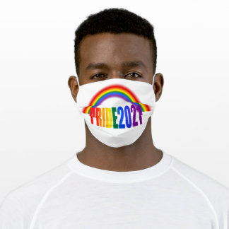 LGBT Rainbow Flag Typography Pride 2020 Adult Clot Adult Cloth Face Mask