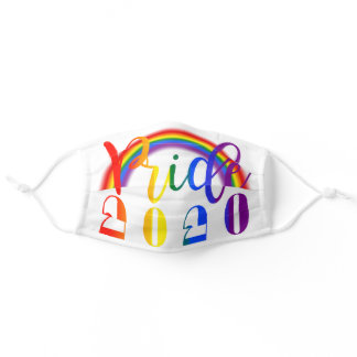 LGBT Rainbow Flag Typography Pride 2020 Adult Cloth Face Mask