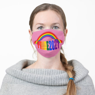 LGBT Rainbow Flag Typography Pride 2021 Adult Cloth Face Mask