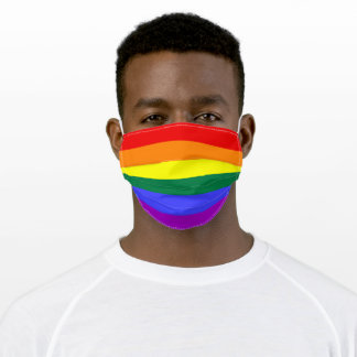 LGBT Rainbow Pride Flag Adult Cloth Face Mask