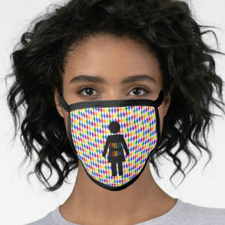 LGBTQ Lesbian Silhouette and Rainbow Ladies Face Mask