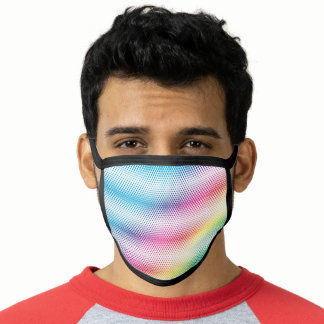 LGBTQ Rainbow  Dots Flag Colors Gay Design Face Mask