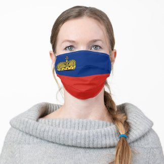 Liechtenstein country flag symbol nation adult cloth face mask