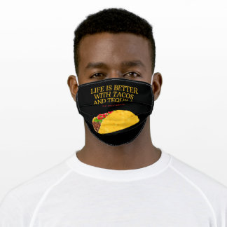 Life Is Better With Tacos And #Eat #Sleep #Repeat Adult Cloth Face Mask