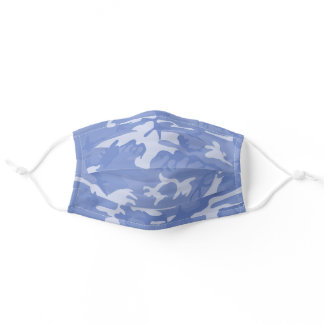 Light Blue Camouflage Adult Cloth Face Mask