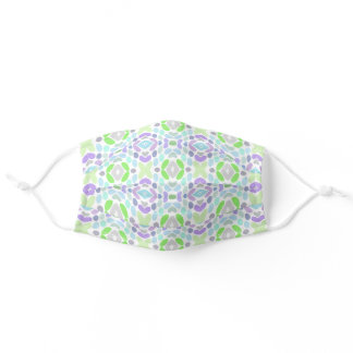 Light Blue Pink Summer Lime Green Tribal Inspired Adult Cloth Face Mask