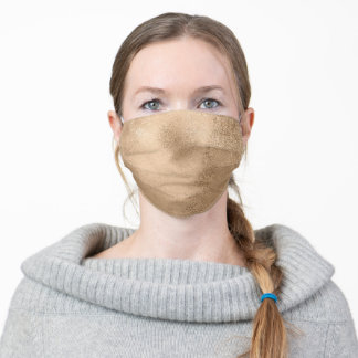 Light Brown Adult Cloth Face Mask