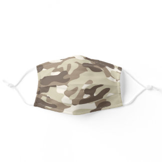 Light Brown Camouflage Adult Cloth Face Mask