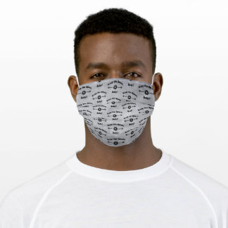 LIGHT GREY Keep the Space, Baby! Adult Cloth Face Mask