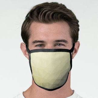 Light yellow grey ombre gradient mesh pattern face mask