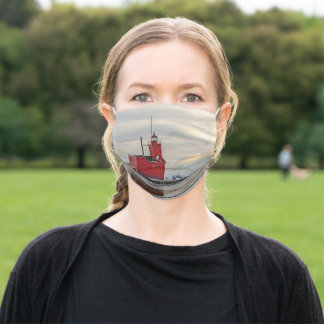 Lighthouse Known as Big Red in Holland Michigan Adult Cloth Face Mask