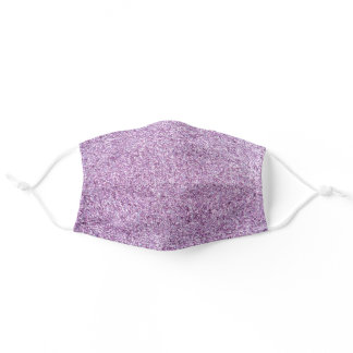 Lilac, glitter and sparkle, so pretty adult cloth face mask