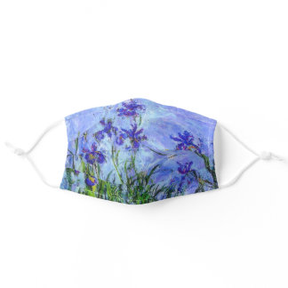 Lilac Irises, Monet masterpiece Adult Cloth Face Mask