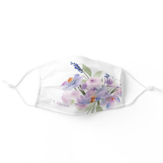 Lilac Lavender Cloth Face Mask with Filter Slot