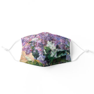 Lilacs in a Window, Mary Cassatt Adult Cloth Face Mask