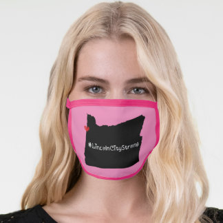 Lincoln City Strong Heart Black Face Mask