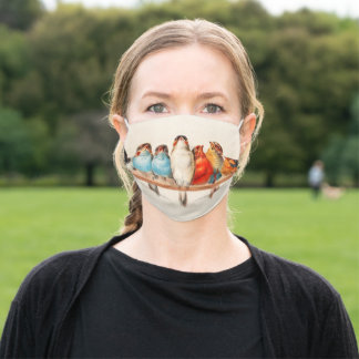 Line of Birds Adult Cloth Face Mask
