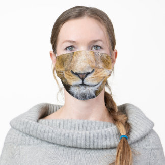 Lion Nose and Mouth Adult Cloth Face Mask