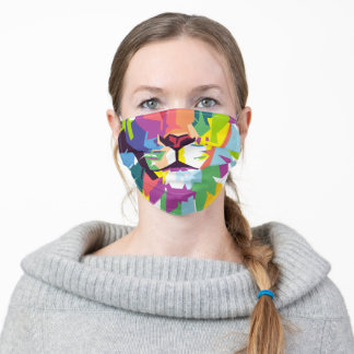 Lion | Pop Art Adult Cloth Face Mask