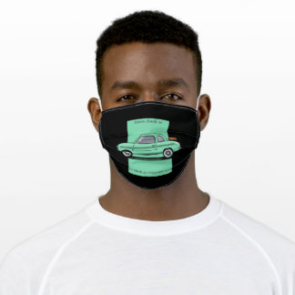 listen closely as the wheels go round... adult cloth face mask
