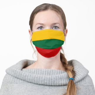 lithuania country flag symbol nation adult cloth face mask