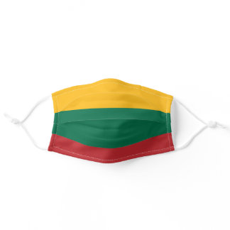 Lithuanian flag adult cloth face mask