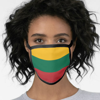 Lithuanian flag face mask
