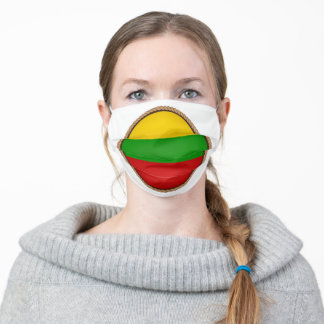 Lithuanian Flag Seal Adult Cloth Face Mask