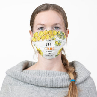 Little Honey Bee Birthday Party face mask