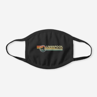 Liverpool New York vintage 1980s style Black Cotton Face Mask