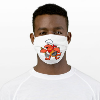 Lobster as Chef with Wooden spoon Adult Cloth Face Mask