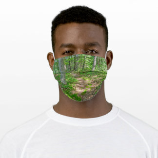 Loda Lake Trail Through the Woods Adult Cloth Face Mask