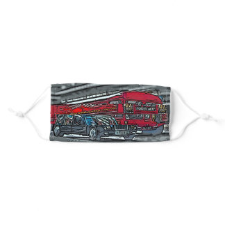London Bus and black cab Adult Cloth Face Mask
