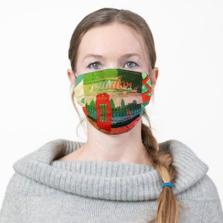 London Red Telephone Box Adult Cloth Face Mask