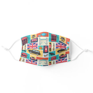 London Themed Adult Cloth Face Mask
