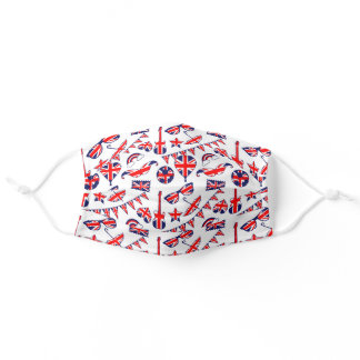 London Union Jack British Pattern Adult Cloth Face Mask